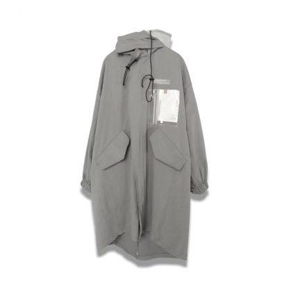 Neutrals Harsh and Cruel Coat On Hanger