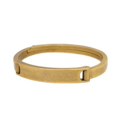 Virgin Stone Bronze Clasp Bracelet