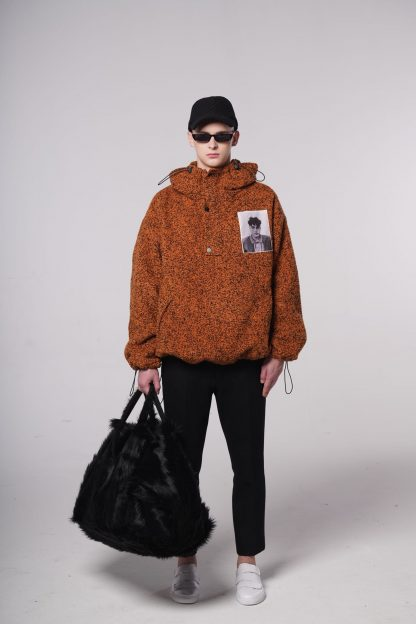 Abstraction wool jacket