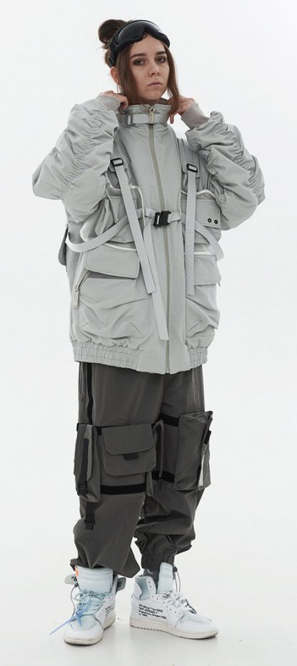 Harsh and Cruel Detachable Bags Down Jacket