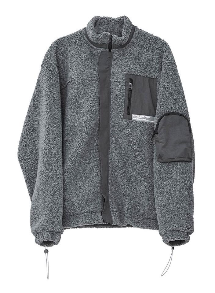 Harsh and Cruel Heavy Sherpa Jacket - Grey