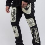 RS Maker Black Patchwork Trousers