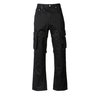 Old Order Flared Cargo Pants Black