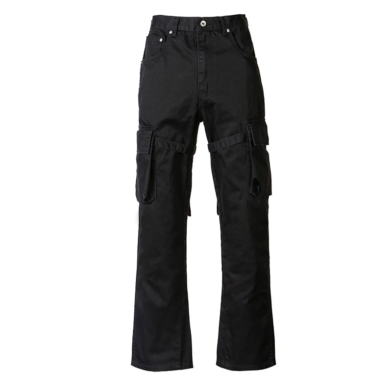 Old Order Flared Cargo Pants Black