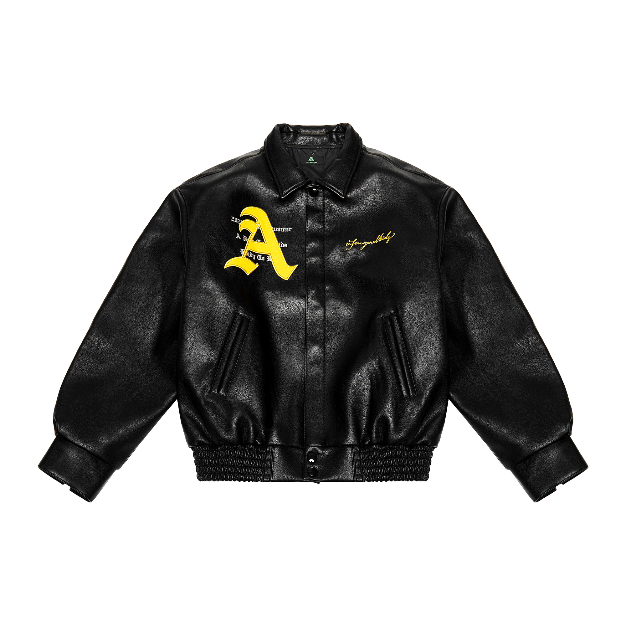 A Few Good Kids AFGK Ma Siwei Bomber Jacket Vegan Leather Black Stallion Streetwear