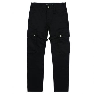 Just This essential black cargo trousers, Japanese Streetwear