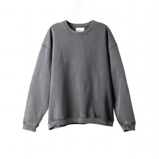 Meta Heavyweight Dyed Streetwear Sweater Crew Neck Japanese Streetwear