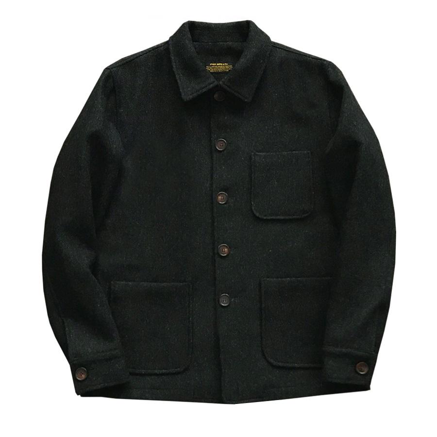 NVGS Japanese Streetwear Classic Tooling Lined Tweed Jacket