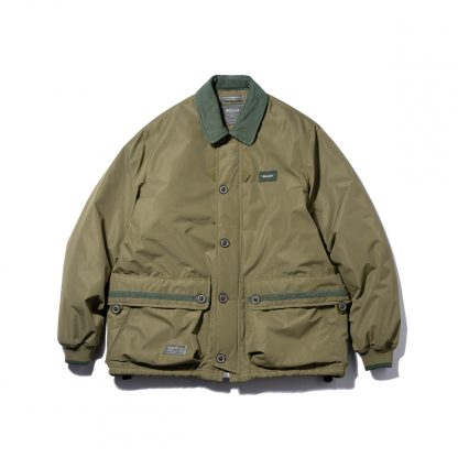 STRL Lined Coach Jacket - Khaki - Japanese Streetwear, quality quilted Thinsulate corduroy, 3M waterproofed outerwear