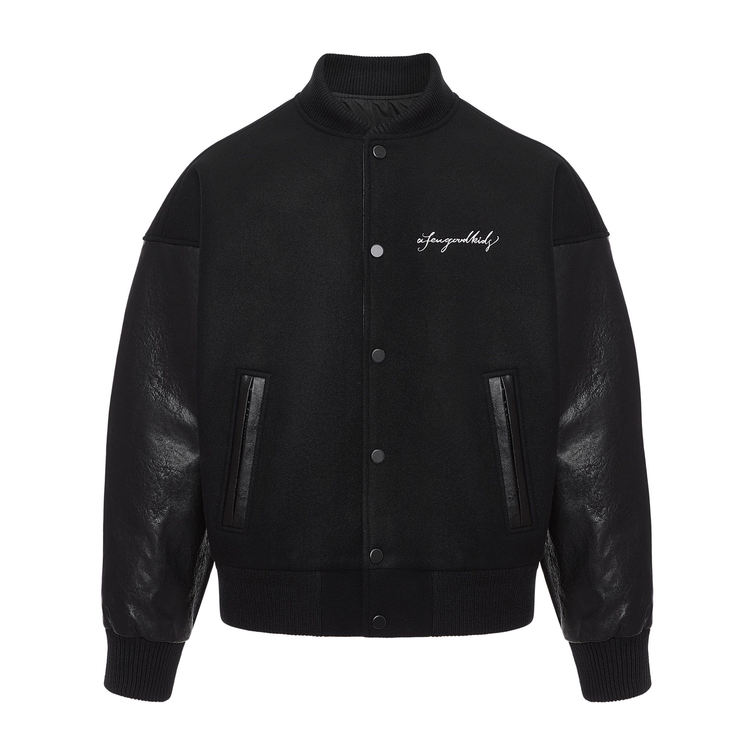 A Few Good Kids AFGK Ma Siwei Hip Hop Streetwear Bomber Varsity Jacket