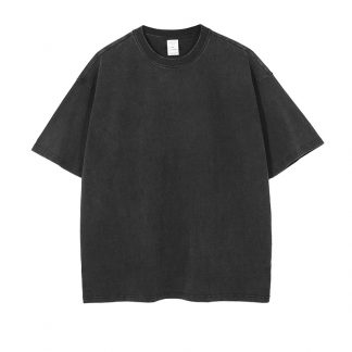 Black Tailor Vintage Wash Hip Hop Streetwear TShirt Basics Essentials
