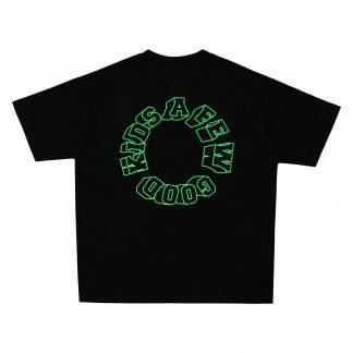 AFGK A Few Good Kids Neon Green Logo T-shirt, Hip Hop, Streetwear