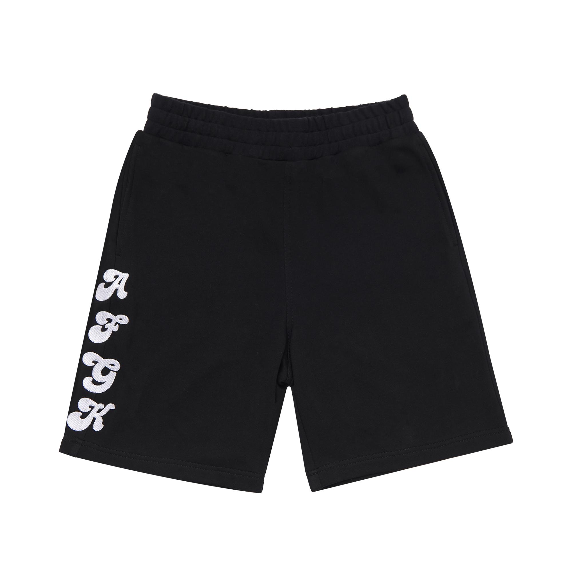 AFGK A Few Good Kids Jersey Sweat Shorts in Black, Hip Hop, Streetwear, Rap Clothing