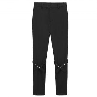 Boneless Black Strap Trousers Mens Streewear Fashion