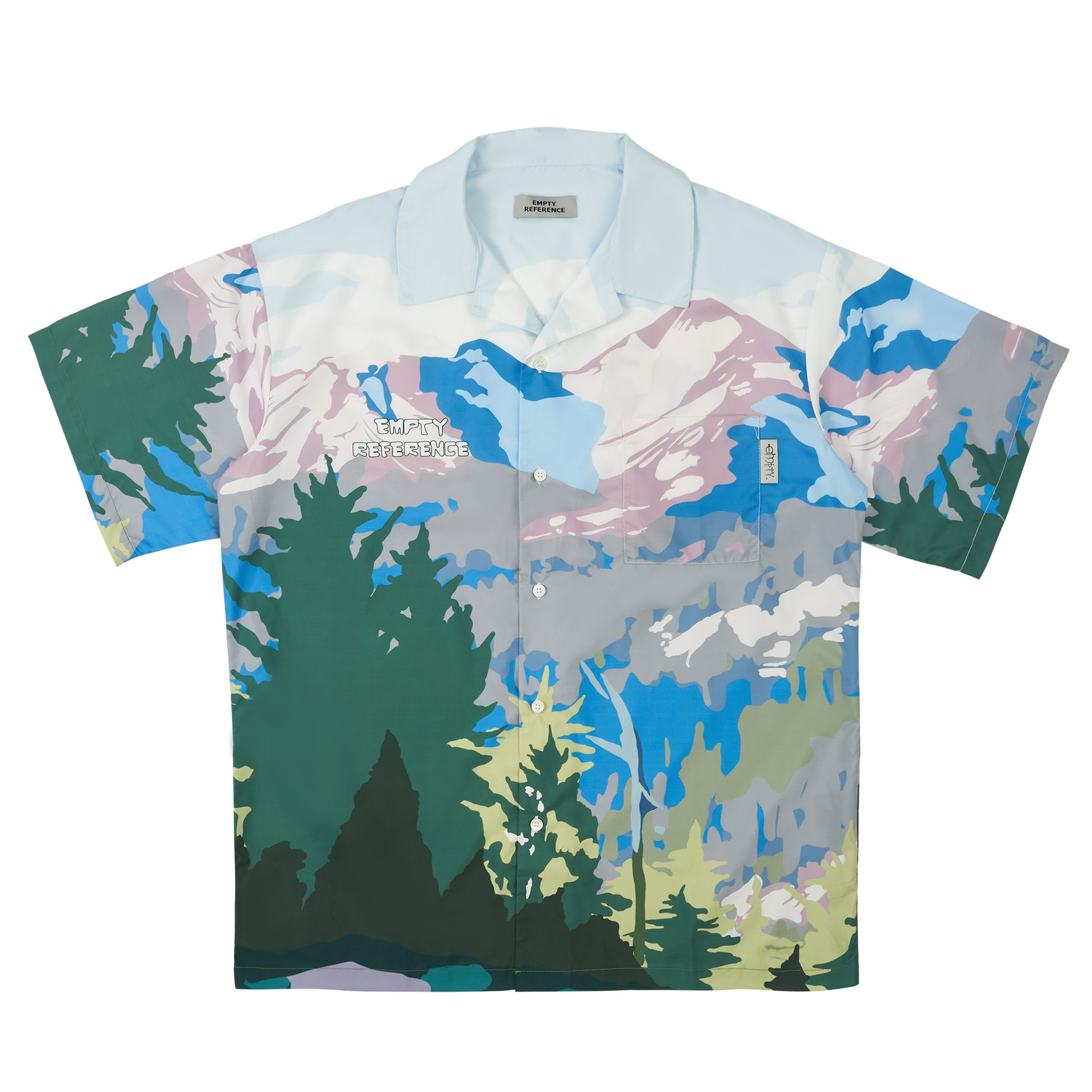 Empty Reference Alpine Graphic Bold Cuban Shirt - Streetwear - Mens - Unisex - Surf Skate