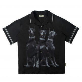 Empty Reference Doberman Shirt Cuban Streetwear
