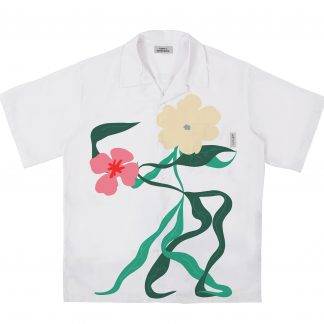 Empty Reference Flower Dance Cuban Shirt Streetwear White