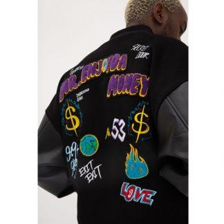 Mr Enjoy Da Money Wasted Youth Varsity Jacket Higher Bros Hip Hop Streetwear