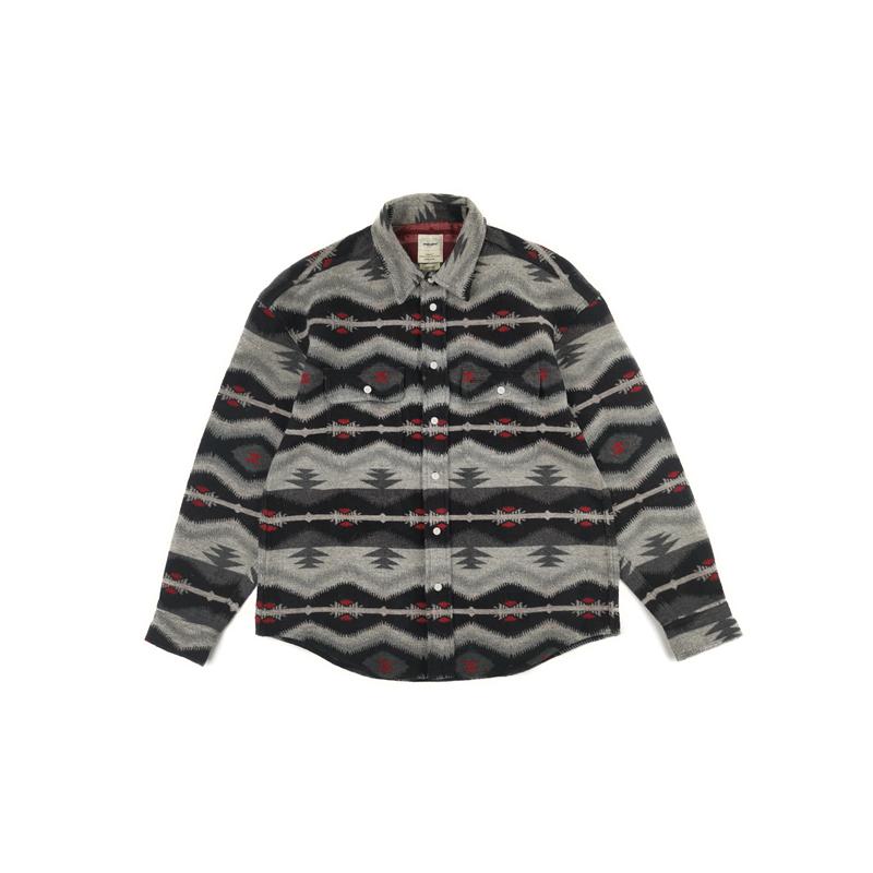 Son of Loong Japanese Streetwear Wool Flannel Ethnic Weave shirt Pendleton