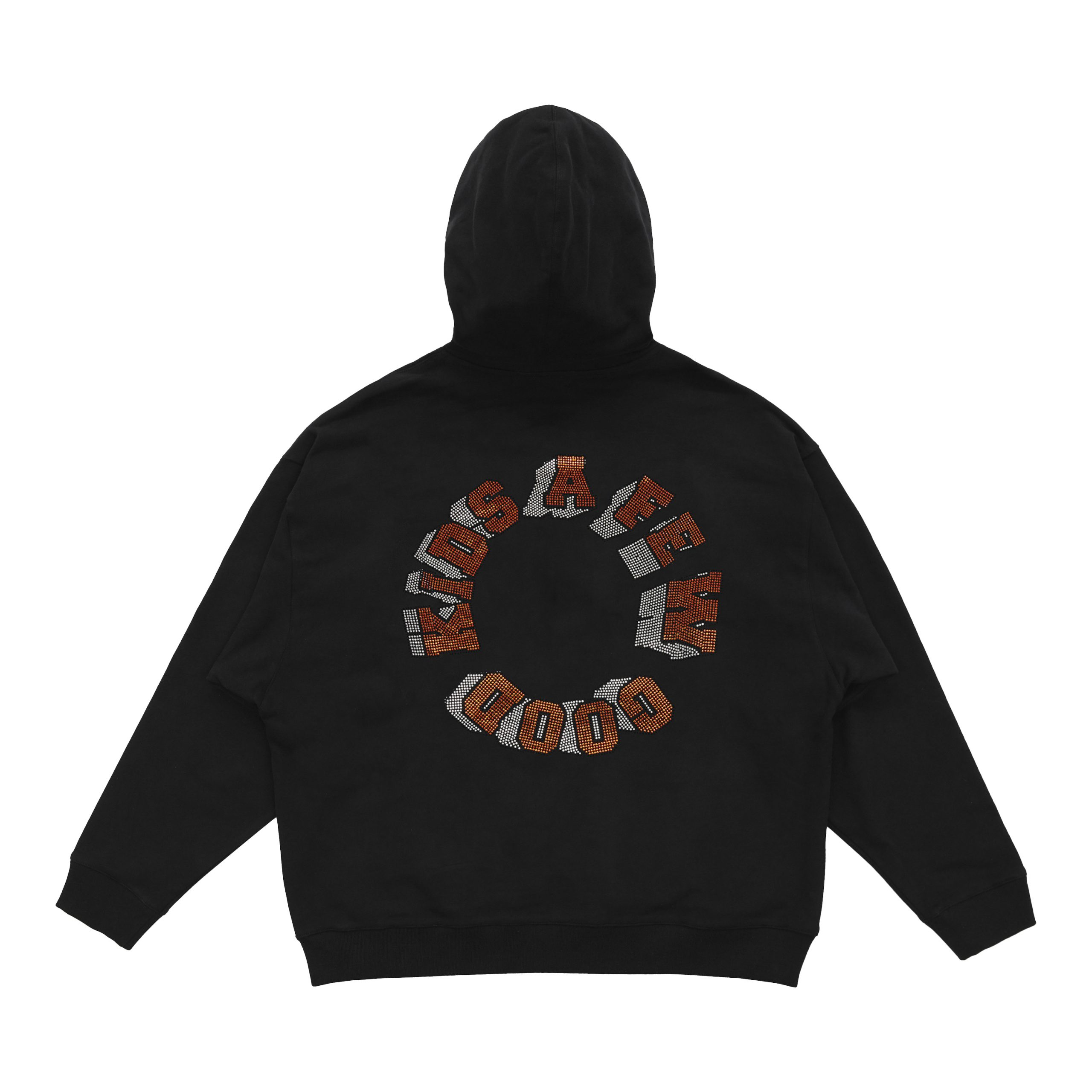 A Few Good Kids Black 3D Logo Graphic Hoodie - Streetwear - Hip Hop - Rap