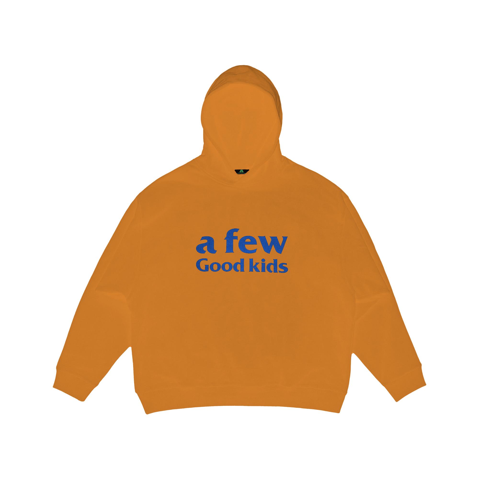 A Few Good Kids Orange Streetwear Hoodie with 3D logo