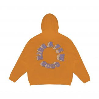 A Few Good Kids 3D Logo Hoodie in Orange - Streetwear - Rap - Hip Hop