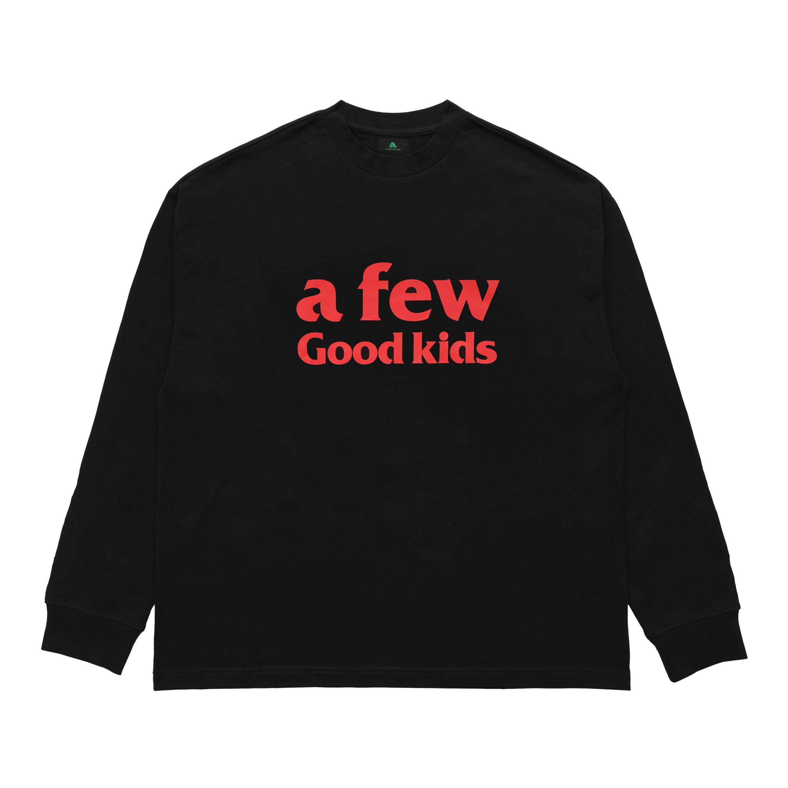 AFGK A Few Good Kids Long Sleeved Black Logo T-Shirt