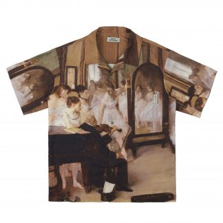 Empty Reference Oil Painting, Ballet School, Dancers Paradise Summer button down Cuban Shirt. Streetwear