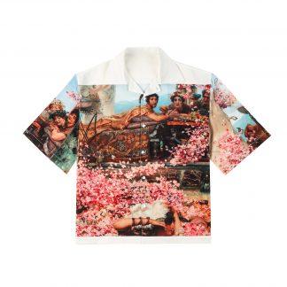 FDM Grand Ceremony Printed Graphic Summer Cuban Shirt Button up Short Sleeved Shirt