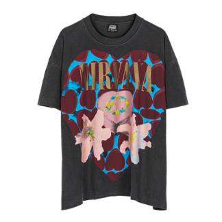 Black Nirvana Vintage Band T-Shirt, 90s, Retro, Grunge, Streetwear
