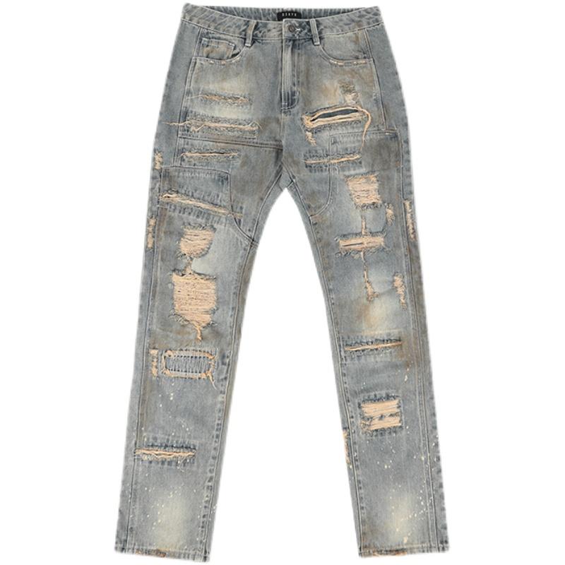 D5OVE Distressed Streetwear Japanese Jeans Denim Mens