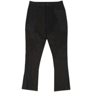 D5OVE Japanese Streetwear Jeans Patchwork Designer Micro Flare Bootcut Modern Mens