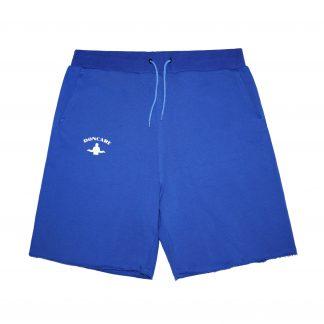 Doncare Blue Raw Hem Streetwear Sweat Shorts