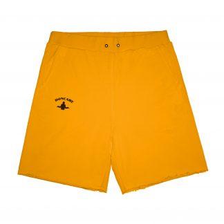 Doncare Orange Raw Hem Streetwear Sweat Shorts