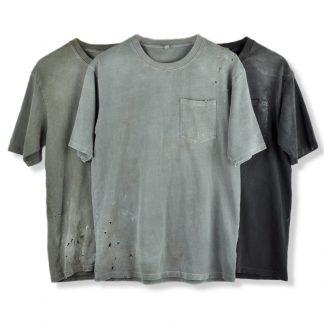 Wirote Essentials Vintage Washed Distressed Streetwear T-Shirt