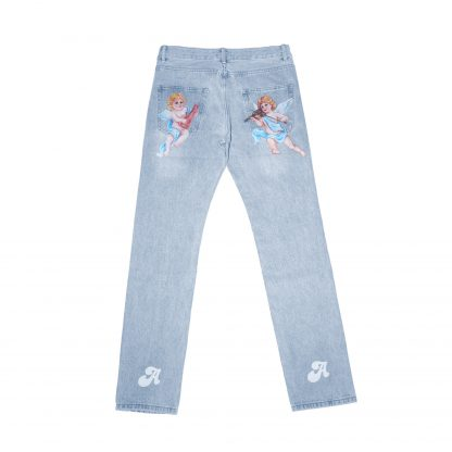 A Few Good Kids AFGK Rap Hip Hop Streetwear Cherub Light Blue Stonewashed Cotton Jeans