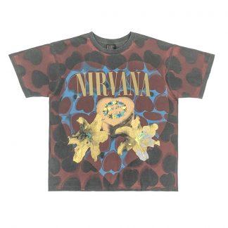 Vintage Band T-Shirt - 90s Streetwear - Nirvana Heart Shaped Box as seen on Justin Bieber