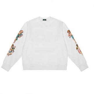 A Few Good Kids Cherub Streetwear Crew Neck Sweater in White
