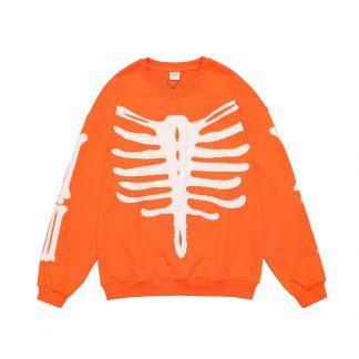 Orange Black Tailor Blk Tlr Bone Embroidery Streetwear Long Sweater