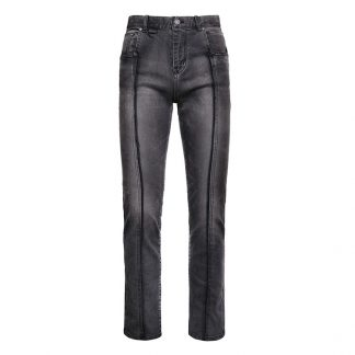 Gremade Split Seam Black Streetwear Jeans