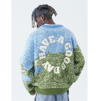 Harsh and Cruel Have a Good Day Knit Unisex Streetwear Sweater
